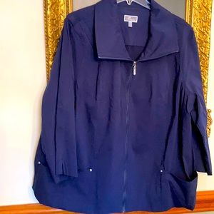 M Collection jacket 22W Navy blue